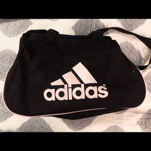EUC Black and Baby Pink Adidas Duffel bag